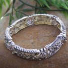 NEW ANTIQUE STYLE SILVER EP BANGLE BRACELET