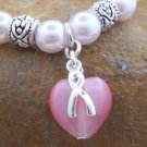 NEW PINK RIBBON BREAST CANCER AWARENESS BRACELET