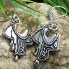 NEW WESTERN COWGIRL SADDLE EARRINGS