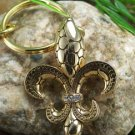 NEW FLEUR DE LIS PURSE HANDBAG KEY CHAIN KEYCHAIN
