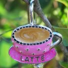 NEW LATTE MOCHA ESPRESSO COFFEE KEY KEYCHAIN FINDER