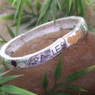 NEW RELIGIOUS CHRISTIAN EXPECT MIRACLES BANGLE BRACELET