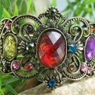 NEW MULTI COLOR ANTIQUE STYLE CRYSTAL BANGLE BRACELET