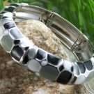 NEW  BLACK GRAY BANGLE BRACELET