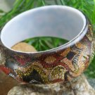 NEW BROWN MULTI PRINT BANGLE BRACELET