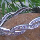 NEW  SILVER EP CRYSTAL BANGLE BRACELET