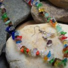 NEW MULTICOLOR WESTERN NATURAL NUGGET NECKLACE SET