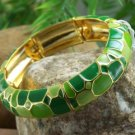 NEW  GREEN METAL BANGLE BRACELET