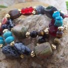 NEW BOHO WESTERN MULTI NUGGET 3 THREE PIECE BRACELET