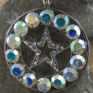 NEW AB WESTERN LONESTAR STAR 40 CRYSTAL PENDANT