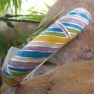 NEW MULTI COLOR BLUE GREEN PURPLE WHITE BANGLE BRACELET