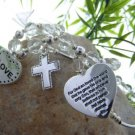 NEW RELIGIOUS CHRISTIAN JOHN 3:16 GOD ONLY SON BRACELET
