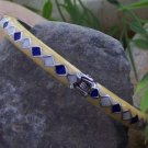 NEW MULTI COLOR YELLOW BLUE WHITE HINGE BANGLE BRACELET