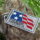 NEW GOD BLESS AMERICA FLAG USA KEY CHAIN KEYCHAIN