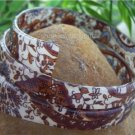 NEW HOT TRENDY CHIC BROWN MULTI COLOR SPIRAL BANGLE