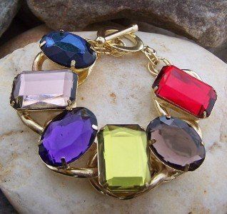 NEW MULTI COLOR RED BROWN BLUE GREEN PURPLE BRACELET