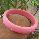 NEW CHIC PINK CRYSTAL BANGLE BRACELET