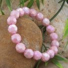 NEW SPARKLING PINK FACETED BEAD BRACELET