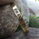 NEW RELIGIOUS CHRISTIAN PRAY WORD BANGLE BRACELET