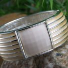 NEW DESIGNER LOOK TAN BEIGE LIGHT BROWN BANGLE BRACELET
