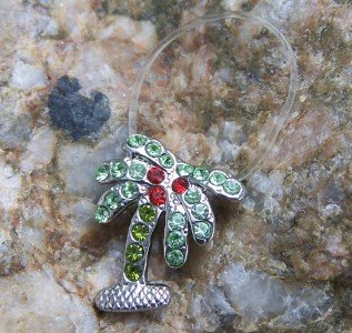 HOT NEW GREEN TROPICAL PALM TREE 26 CRYSTAL TOE RING