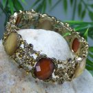 NEW BROWN FAUX TOPAZ CRYSTAL RHINESTONE BANGLE BRACELET