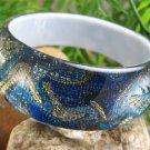 NEW BLUE MULTI PRINT BANGLE BRACELET