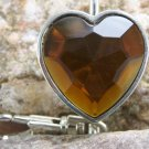 NEW BROWN HEART PURSE HANDBAG KEY CHAIN KEYCHAIN FINDER