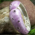 NEW  PURPLE LAVENDER BANGLE BRACELET