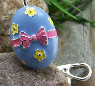 NEW EASTER EGG PURSE KEYCHAIN FINDER