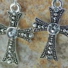 NEW RELIGIOUS CHRISTIAN CROSS 8 CRYSTAL EARRINGS