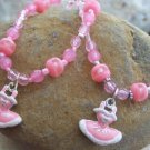 NEW KIDS BALLET BALLERINA SHOES BRACELET NECKLACE SET