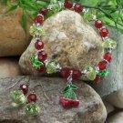 NEW CHERRY CHERRIES STRAWBERRY FRUIT EARRINGS BRACELET