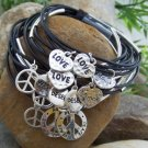 NEW 15 PC WISH WORLD PEACE LOVE AMOR DESEO PAZ BRACELET