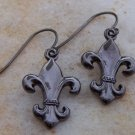 NEW FRENCH FLEUR DE LIS FLOWER EARRINGS