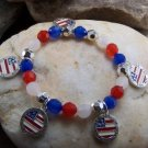 NEW USA FLAG INDEPENDENCE DAY UNITED STATES BRACELET