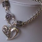 VALENTINES DAY HEART LOVE BRAIDED CHARM BRACELET