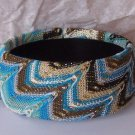BLUE BROWN BEIGE OFF WHITE MULTICOLOR BANGLE BRACELET