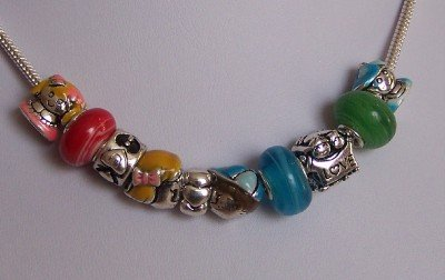NEW GRANDMA GRANDMOTHER LOVE CHILDREN LAMPWORK NECKLACE
