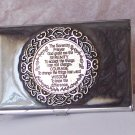 Serenity Prayer AA Alcoholics Anonymous Recovery Business Card Holder