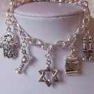 Jewish Star of David Israel Hannukah Charm Bracelet
