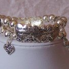 Religious Christian Trust in the Lord Heart Proverbs 3:5 Bracelet
