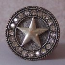 WESTERN CHUNKY RODEO STAR TEXAS SIZE FREE CRYSTAL RING