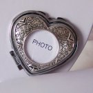 Heart Love Compact Photo Mirror