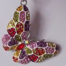 MULTICOLOR BUTTERFLY 90 CRYSTAL KEY KEYCHAIN HANDBAG FINDER