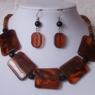 Brown Black Necklace Set