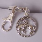 Rodeo Rider Western Horse Mustang Pony Handbag Keychain Finder