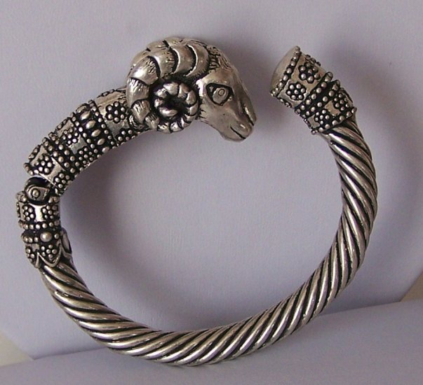 Zodiac Capricorn Ram Animal Print Bangle Bracelet