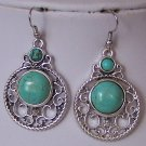 WESTERN TURQUOISE BLUE FILIGREE EARRINGS