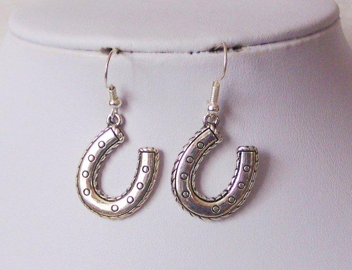 Horseshoe Horse Shoe Earrings